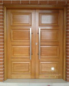 pintu rumah depan minimalis kupu tarung kayu jati