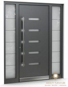 pintu rumah depan minimalis modern kayu jati jepara