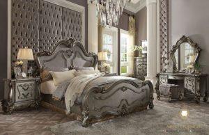 set kamar tidur mewah classic modern kayu jepara luxury italia