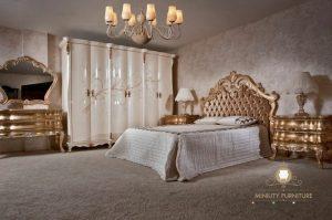 set kamar tidur ukiran mewah kayu modern jepara