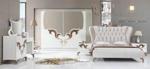 set kamar tidur unik modern warna putih terbaru