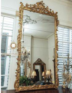 cermin hias panjang ukiran mewah kayu model terbaru
