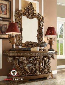 consul table ukiran mewah luxury eropa style terbaru