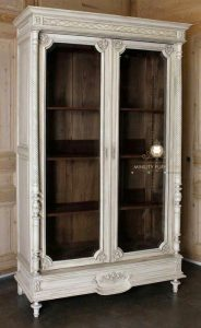 lemari pajangan hias model antik klasik kayu jepara terbaru