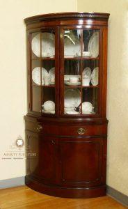 model lemari hias sudut rak piring kayu jati jepara