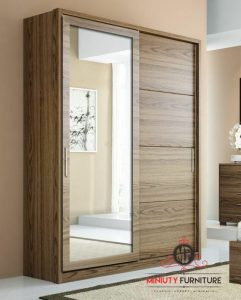 model lemari pakaian pintu sleding kaca minimalis modern multiplek