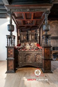 ranjang mater bed room ukir mewah klasik model kanopi