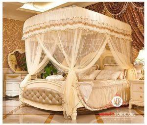 set kamar tidur pengantin mewah duco putih terbaru