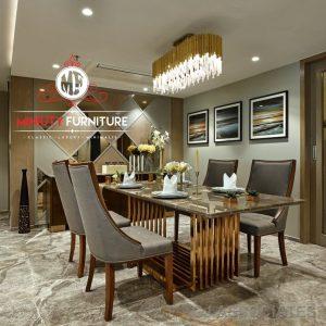 set meja makan mewah elegant modern model terbaru