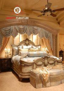 tempat tidur ranjang pengantin mewah klasik modern elegant
