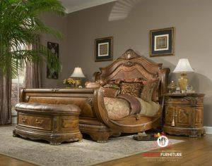 tempat tidur unik mewah elegant kayu terbaru