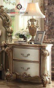 drawer samping tempat tidur klasik elegant model terbaru