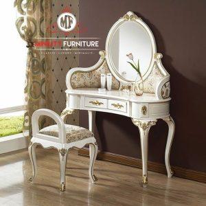 model meja hias klasik modern duco putih terbaru