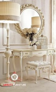 model meja rias klasik modern duco putih terbaru