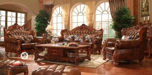 set sofa ruang tamu ukir mewah modern terbaru