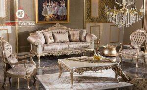 sofa tamu ukir gold meja top marmer