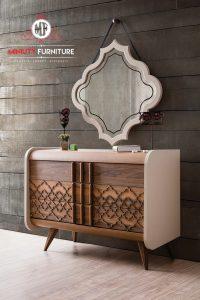 bufet cermin model meja console minimalis modern