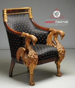 kursi makan kursi santai ukir angsa kayu jati