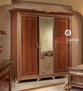 lemari pakaian minimalis kayu jati 3 pintu
