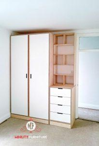 lemari pakaian minimalis multiplek hpl terbaru