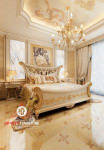 master bed room mewah elegant ukir putih