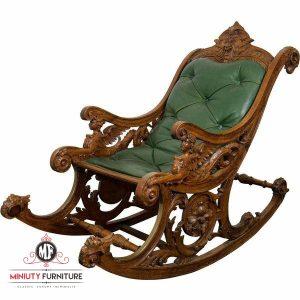 model kursi goyang ukir klasik kayu jati