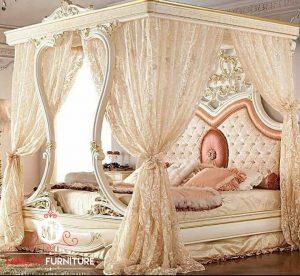 ranjang bed mewah sultan model kelambu