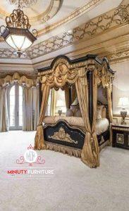 tempat tidur mewah elegant eropa style