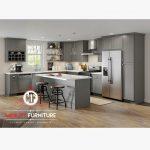 desain kitchen set minimalis duco abu