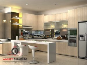 kitchen set minimalis modern dan mini bar