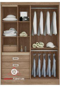 model lemari pakaian minimalis modern HPL