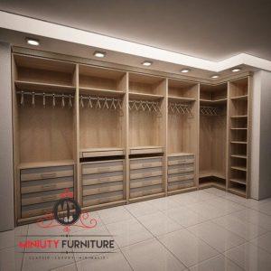 model lemari pakian minimalis modern tanpa pintu