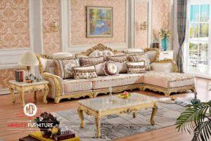 model sofa tamu sultan ukiran warna gold