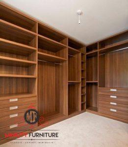 model wardrobe minimalis tanpa pintu
