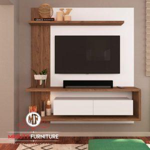 panel tv model minimalis modern duco putih