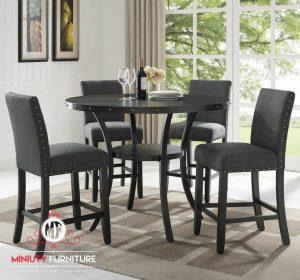 set meja makan kursi 4 klasik modern