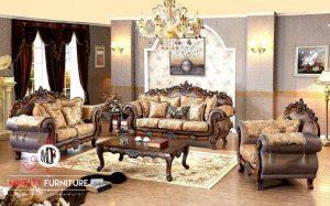 sofa ruang tamu ukiran mewah elegant