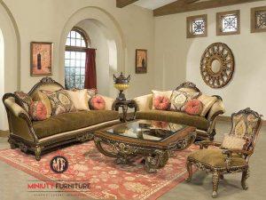 sofa tamu ukiran klasik italian style