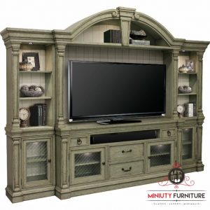 bufet lemari tv classic antique kayu terbaru