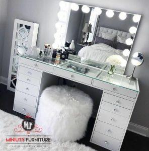 meja rias duco putih minimalis modern