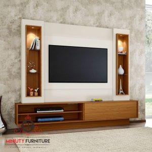 model desain panel tv minimalis modern
