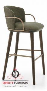 model kursi mini bar tinggi retro jok busa