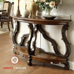 model meja konsul klasik kayu jati