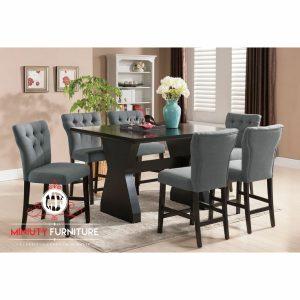 model meja makan minimalis modern kayu