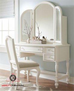 model meja rias klasik duco putih terbaru