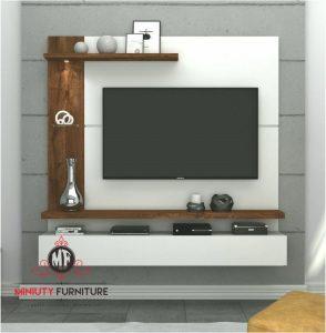 model panel tv modern duco putih