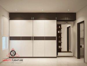 wardrobe minimalis modern plywood hpl