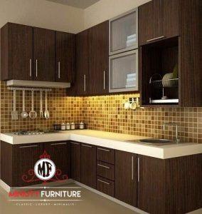 dapur model minimalis modern HPL
