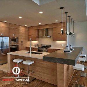 desain kitchen set dan minibar minimalis modern