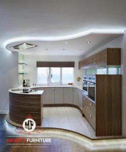 kitchen lengkung modern model terbaru